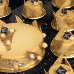 Dulcey noisette (Mars) : Biscuit moelleux noisette, crémeux dulcey, mousse allégée café dulcey