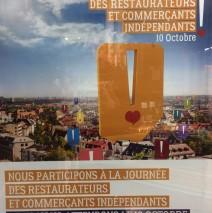 10 octobre : journée des restaurateurs et commerçants indépendants
