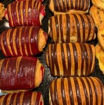 Pain framboise chocolat, chocolat pistache